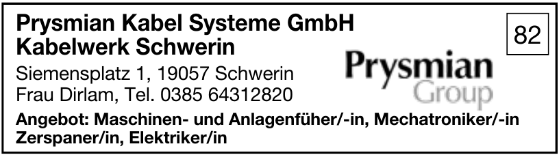 Prysmian Kabel systeme GmbH