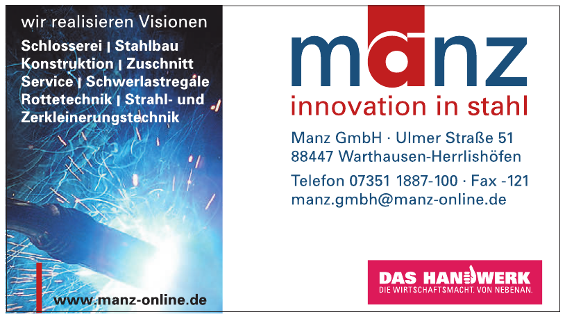 Manz GmbH innovation in stahl