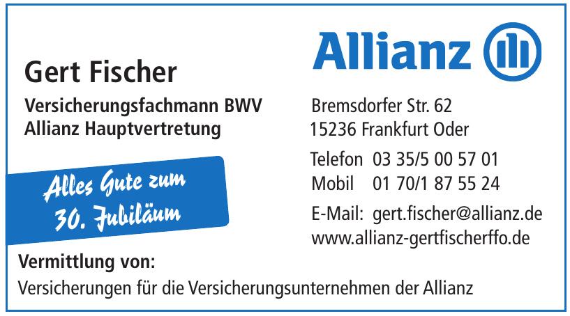 Gert Fischer Versicherungsfachmann BWV Allianz Hauptvertretung