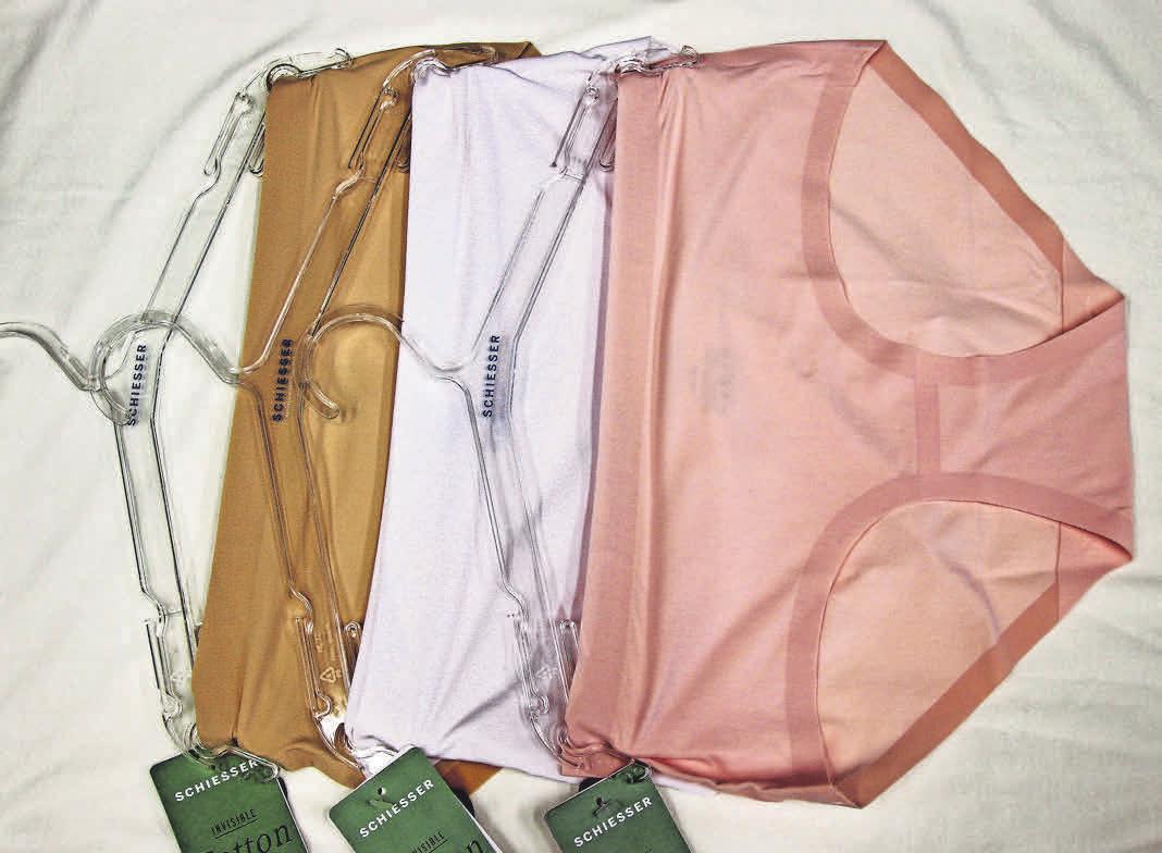 Farben wie Eiscreme und eine Wohltat auf der Sommerhaut – die neuen Seamless-Slips von Wäschegeschäft Sprengel.