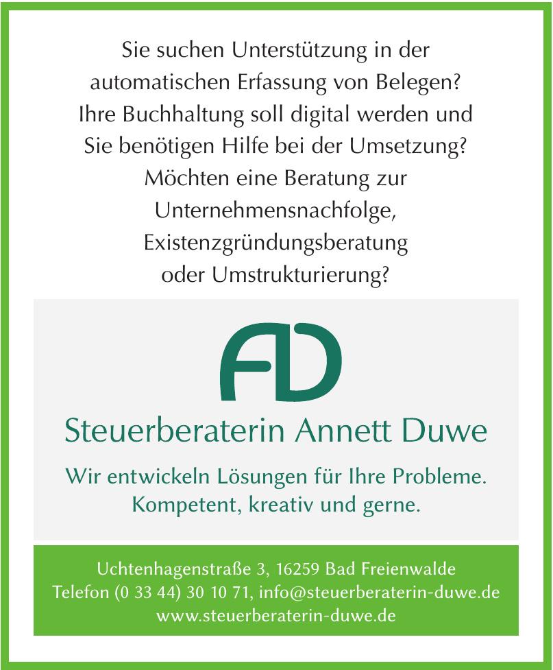 Steuerberaterin Annett Duwe
