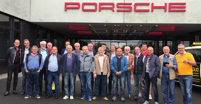 Die 5. Sektion zu Besuch bei Porsche.