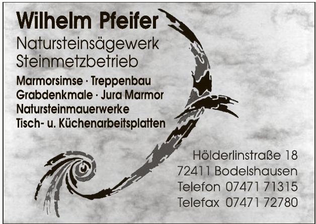 Wilhelm Pfeifer Natursteins§gewerk, Steinmetzbetrieb