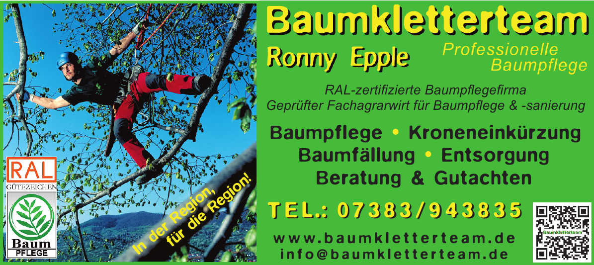 Baumkletterteam Ronny Epple