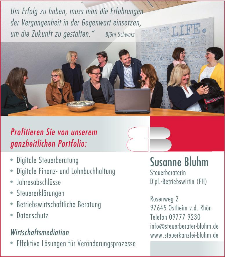 Susanne Bluhm - Steuerberaterin - Dipl.-Betriebswirtin (FH)
