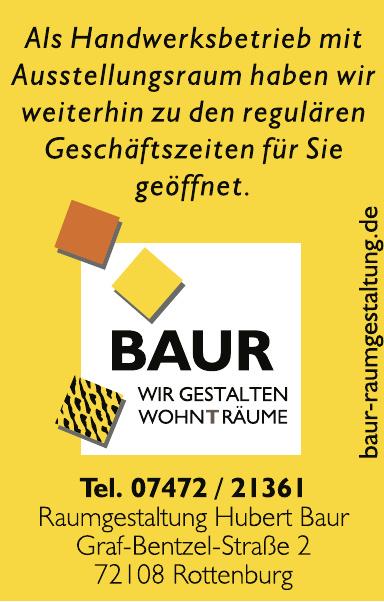 Raumgestaltung Hubert Baur