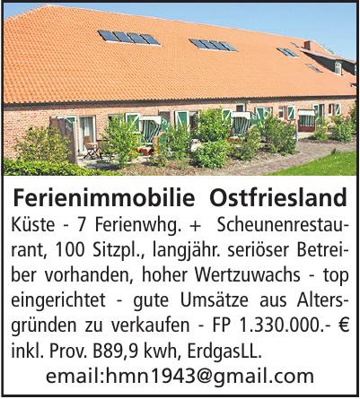 Ferienimmobilie Ostfriesland