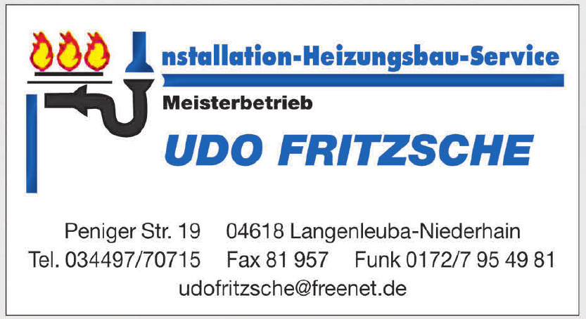 Installation-Heizungsbau-Service Udo Fritzsche
