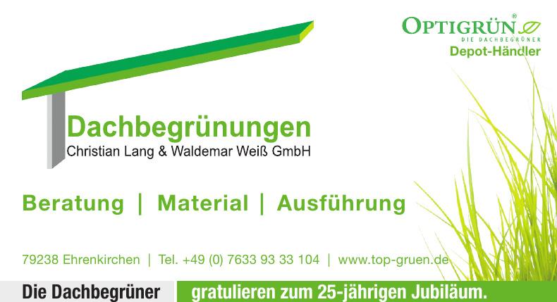 Dachbegrünungen Christian Lang & Waldemar Weiß GmbH