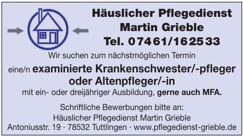Häuslicher Pfl egedienst Martin Grieble