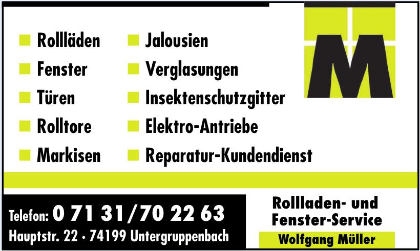Müller Wolfgang, Rollladen- und Fenster-Service