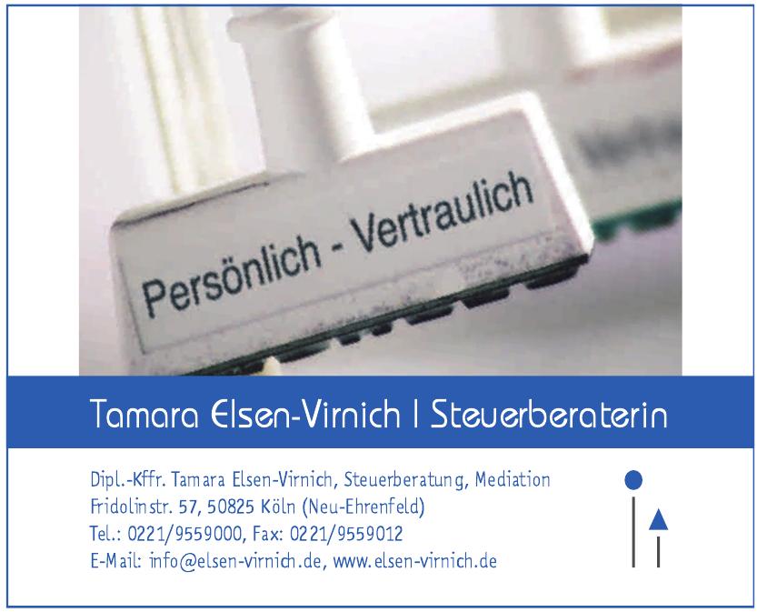 Dipl.-Kffr. Tamara Elsen-Virnich Steuerberatung