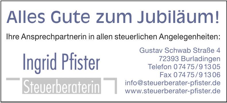 Ingrid Pfister - Steuerberaterin