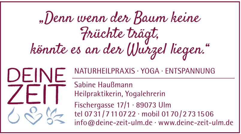 Deine Zeit Naturheilpraxis, Yoga, Entspannung