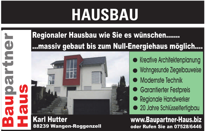 Baupartner Haus Karl Hutter