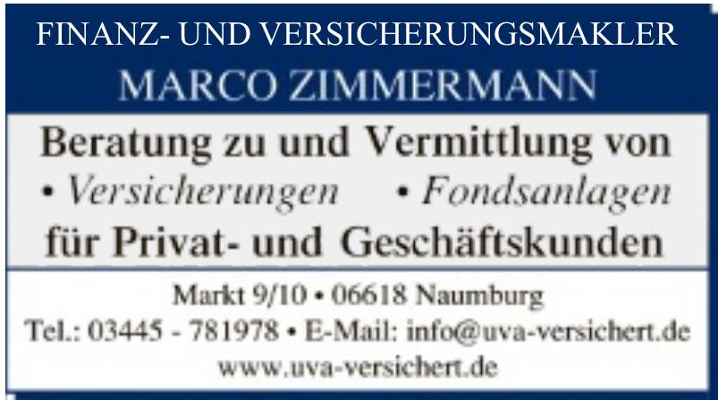 Finanz- und Versicherungsmakler Marco Zimmermann