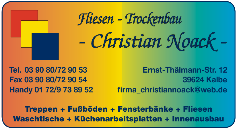 Fliesen - Trockenbau - Christian Noack -