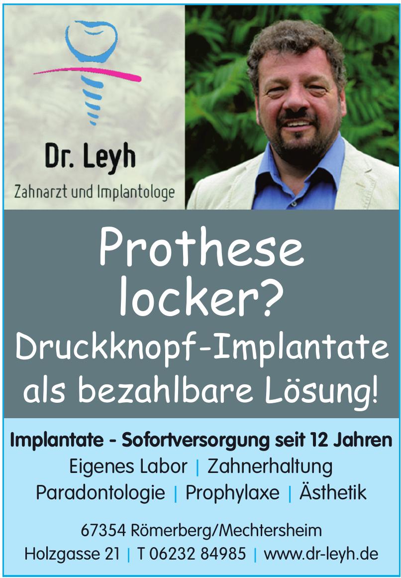 Dr. Leyh Zahnarzt und Implantologe