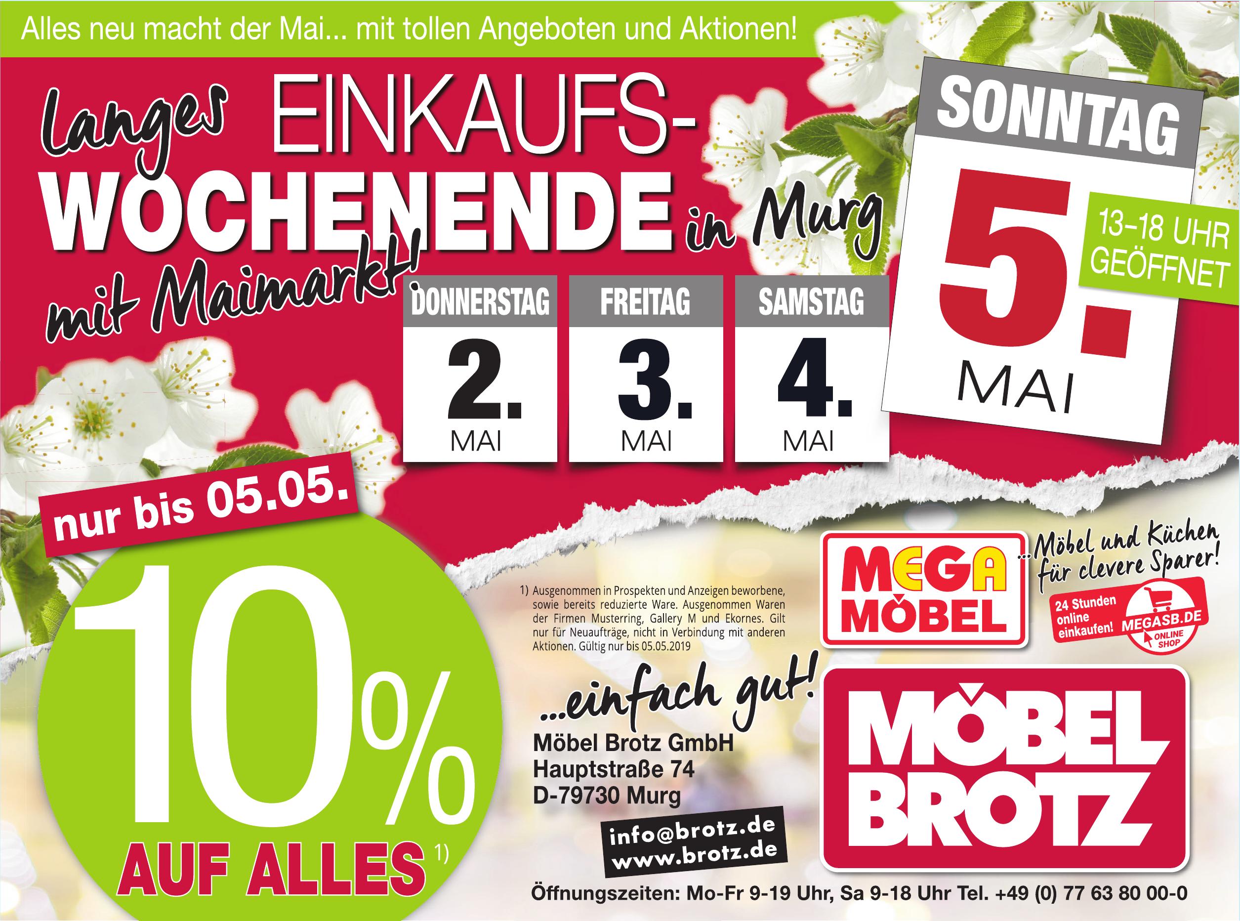Murg Maimarkt Auf Dem Areal Von Möbel Brotz Mit Showbühne