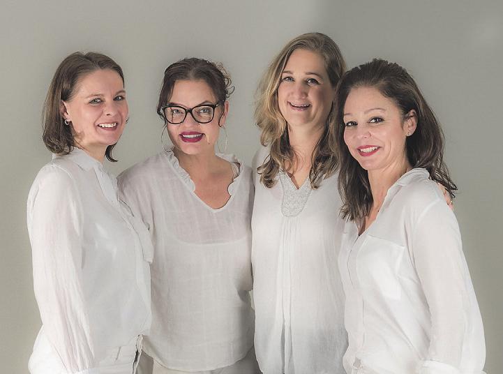 Das erfahrene Team von Le Trésor: Solveig Erdmann, Vanessa Remé, Jacqueline Richter und Carmen Bein Foto: pr