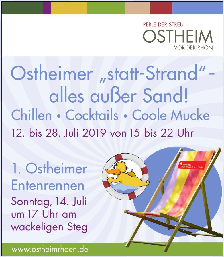 """Ostheimer """"statt-Strand"""" – alles außer Sand!"""