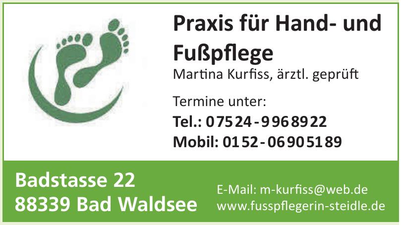 Praxis für Hand- und Fußpflege Martina Kurfiss