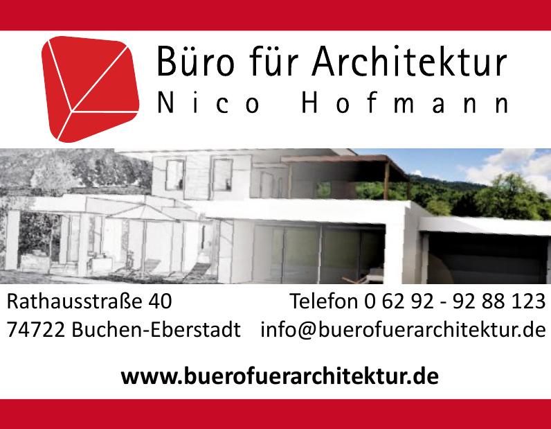 Büro für Architektur Nico Hofmann