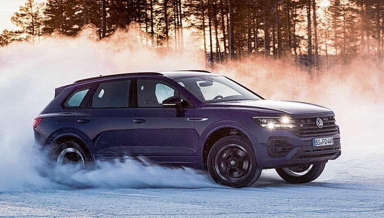 Dank Allradantrieb macht der VW Touareg R auch auf Schnee eine gute Figur Foto: Volkswagen