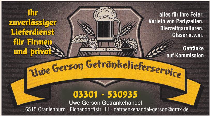 Uwe Gerson Getränkehandel