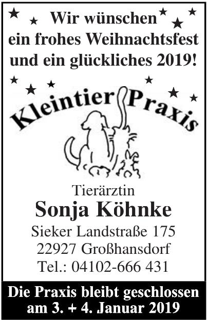 Kleintier Praxis Sonja Köhnke