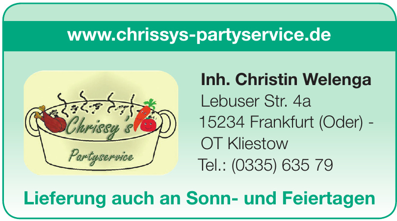 Chrissy's Partyservice