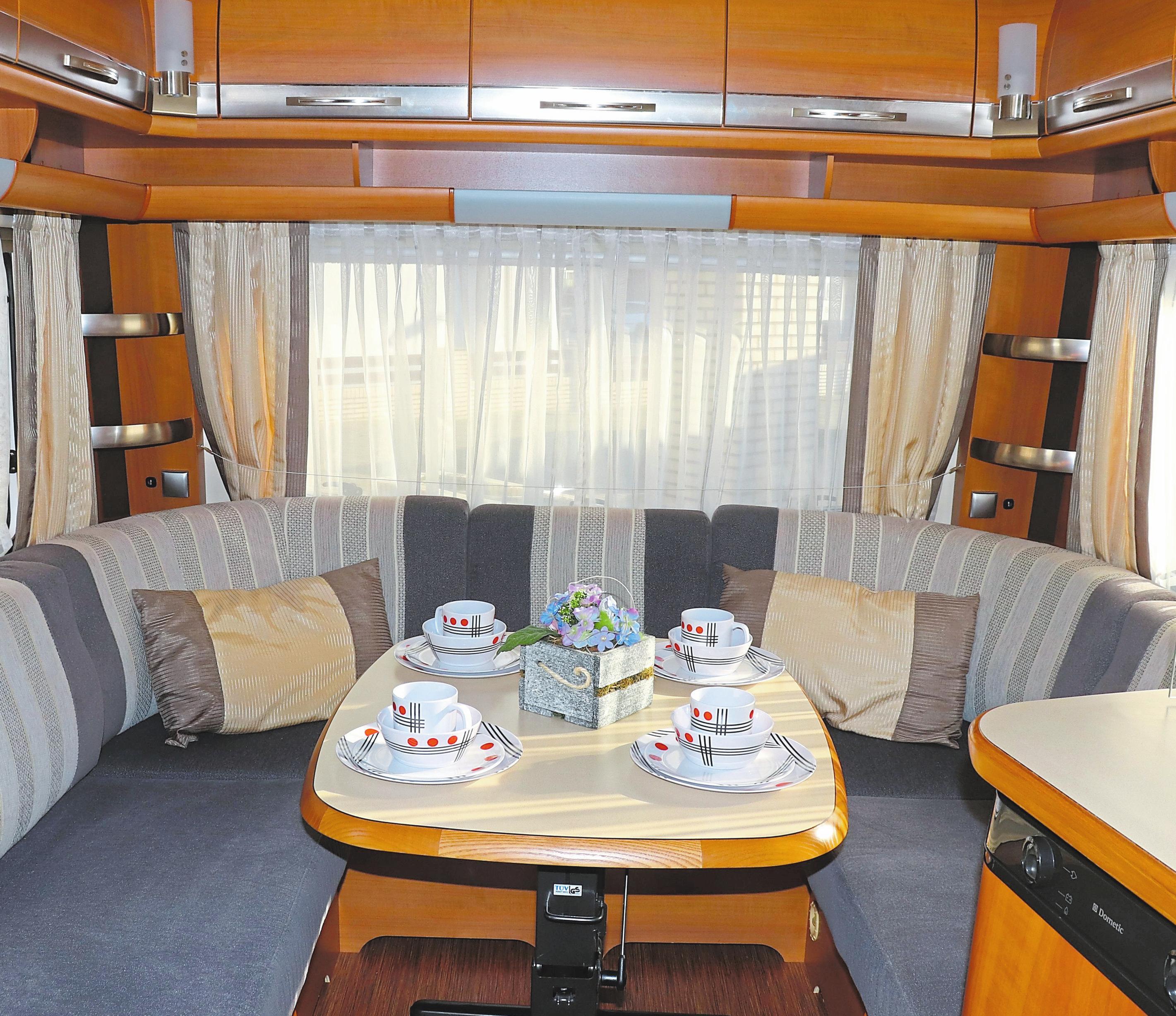 Neben hoher Qualität ist bei den Kunden heute auch ein gemütliches Ambiente in Wohnwagen besonders gefragt.