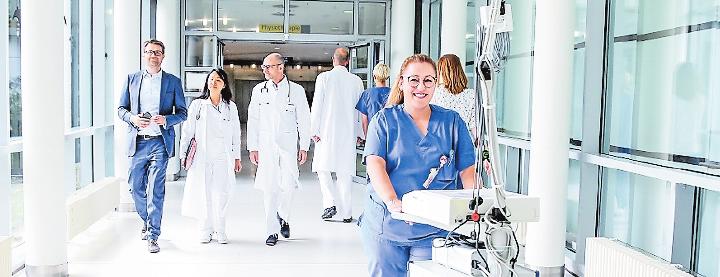 """""""Spitzenmedizin menschlich"""": bei der BG. FOTO: BG KLINIK"""