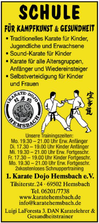 1. Karate Dojo Hemsbach e.V.