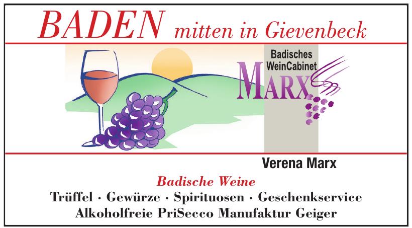 Badische Wein Cabinet Marx