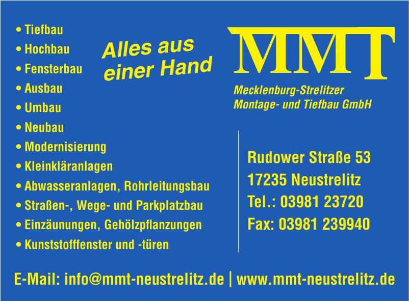 MMT Mecklenburg- Strelitzer - Montage- und Tiefbau GmbH