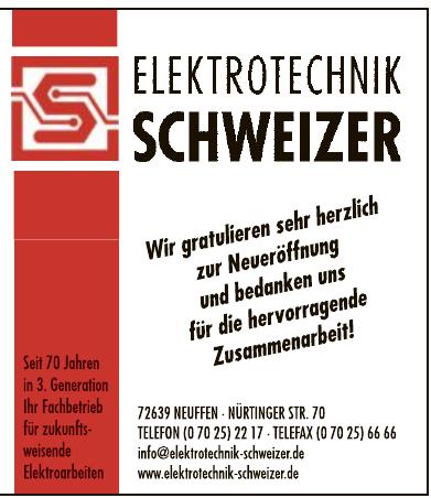 Elektrotechnik Schweizer