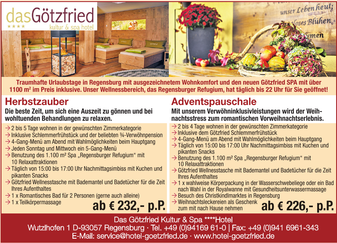 Das Götzfried Kultur & Spa ****Hotel