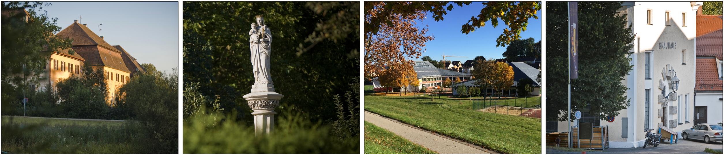"""Kultur und Brauchtum haben Scheyern weit über seine Grenzen hinaus bekannt gemacht. Besondere Wanderwege wie der """"Benediktusweg"""", der """"Keltenweg"""" oder der """"Planetenweg"""", der am Eingang zum Prielhof beginnt (Bild links) bieten einen hohen Freizeitwert. Bierliebhaber lockt die Klosterbrauerei, (rechts) die nach alten Rezepten Bier herstellt. Fotos: Gemeinde Scheyern"""