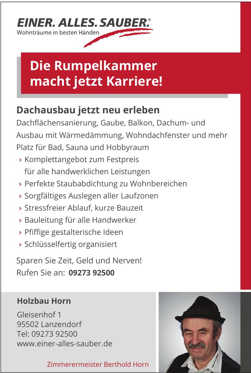Zimmerermeister Berthold Horn