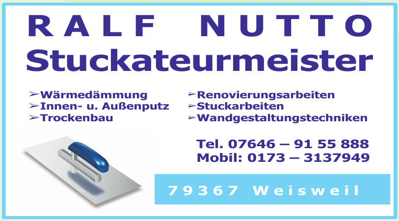 Ralf Nutto Stuckateurmeister