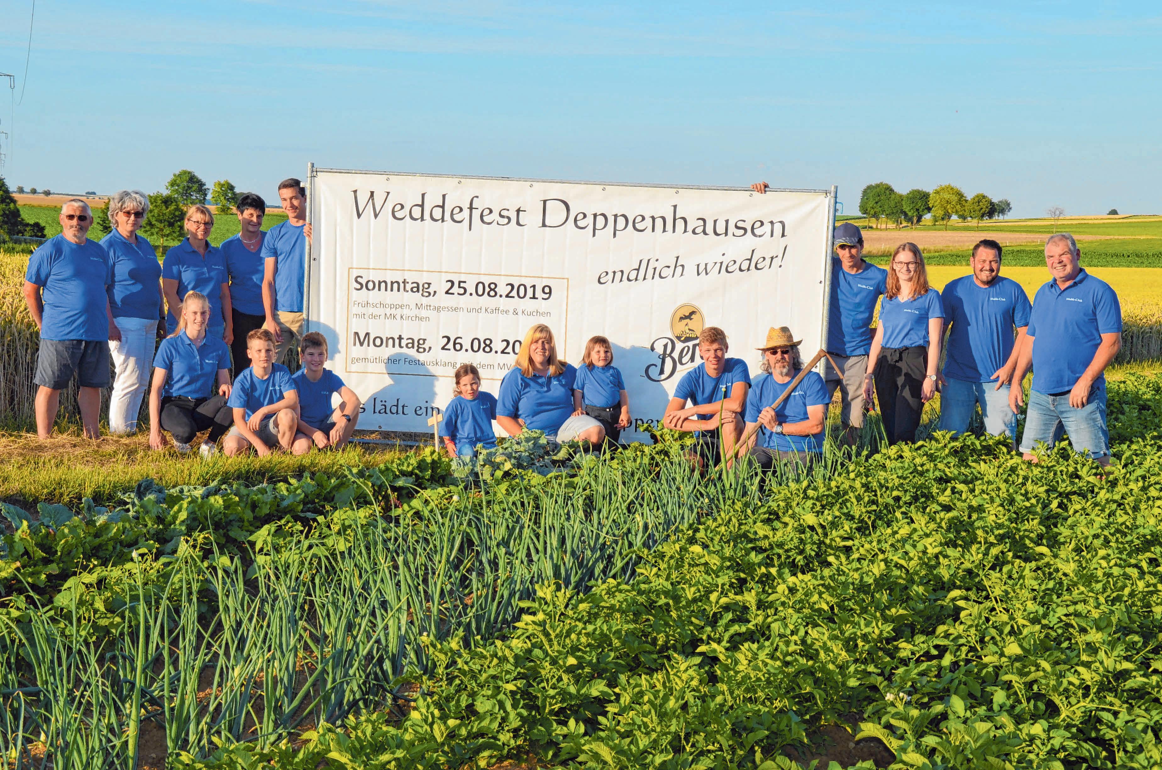 Die Mitglieder des Wedde-Clubs freuen sich auf das Weddefest