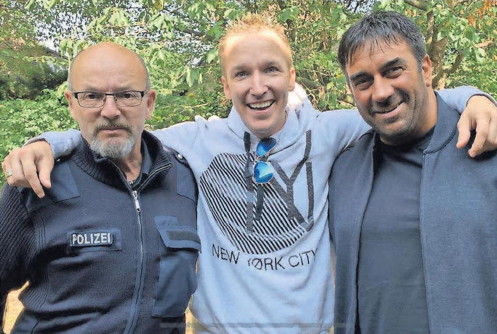Dirk Schell (von links), Christoph Rickels (Bundesverdienstkreuz 2019) und Ricardo Savia: Gemeinsam stark für Gewaltprävention.