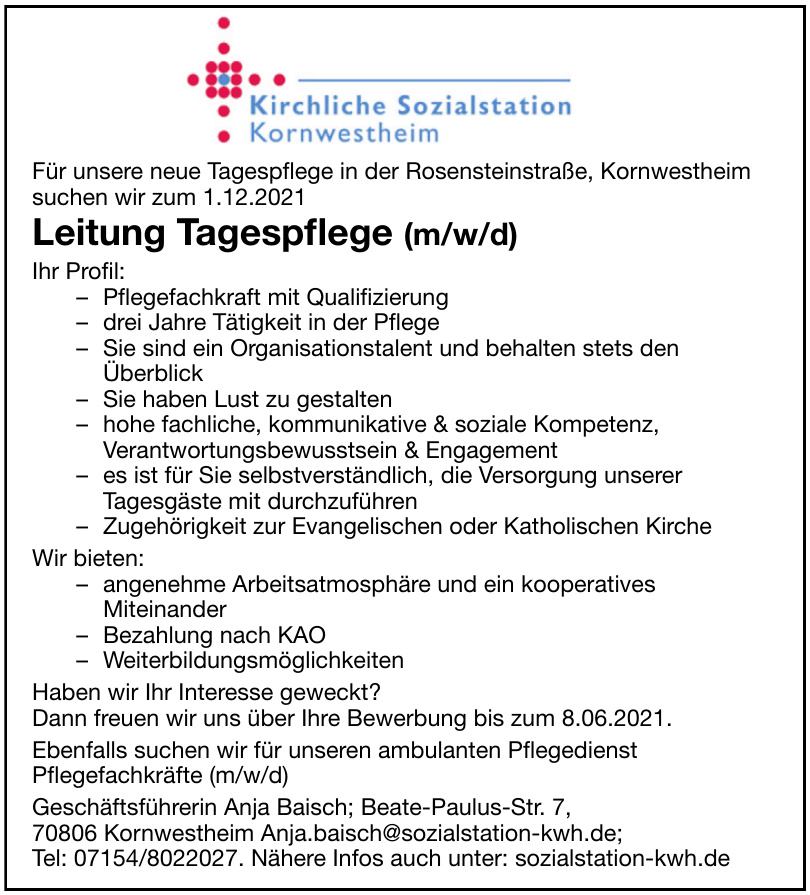 Kirchliche Sozialstation Kornwestheim