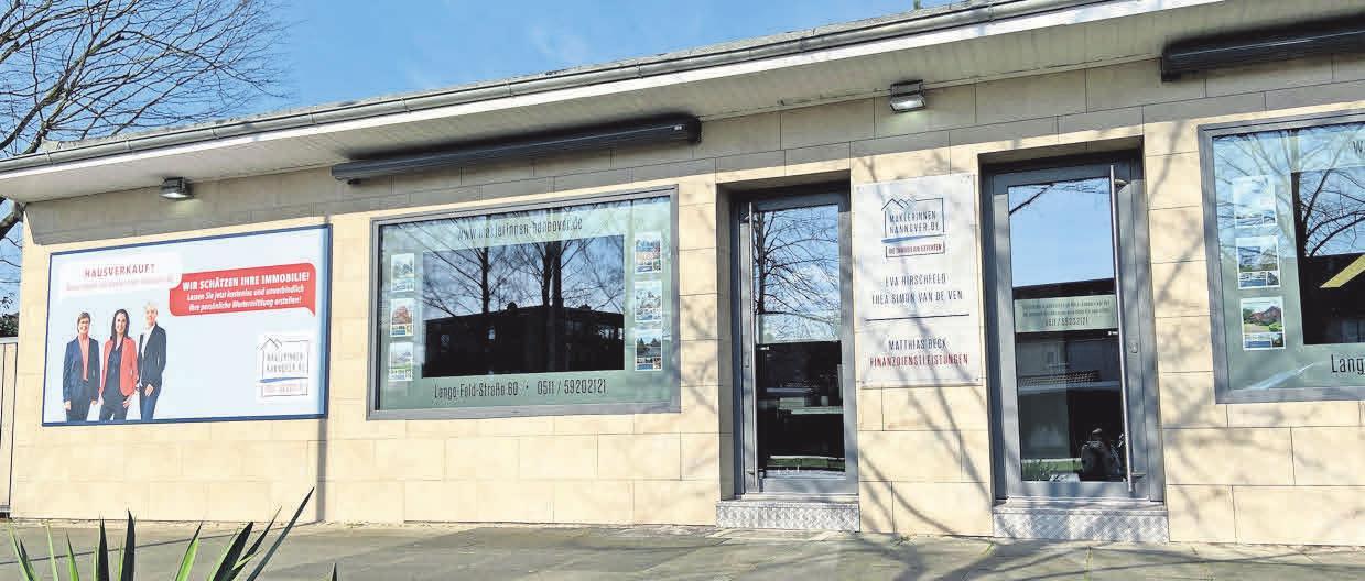 Das Maklerinnenbüro befindet sich an der Lange-Feld-Straße 60 in Kirchrode.