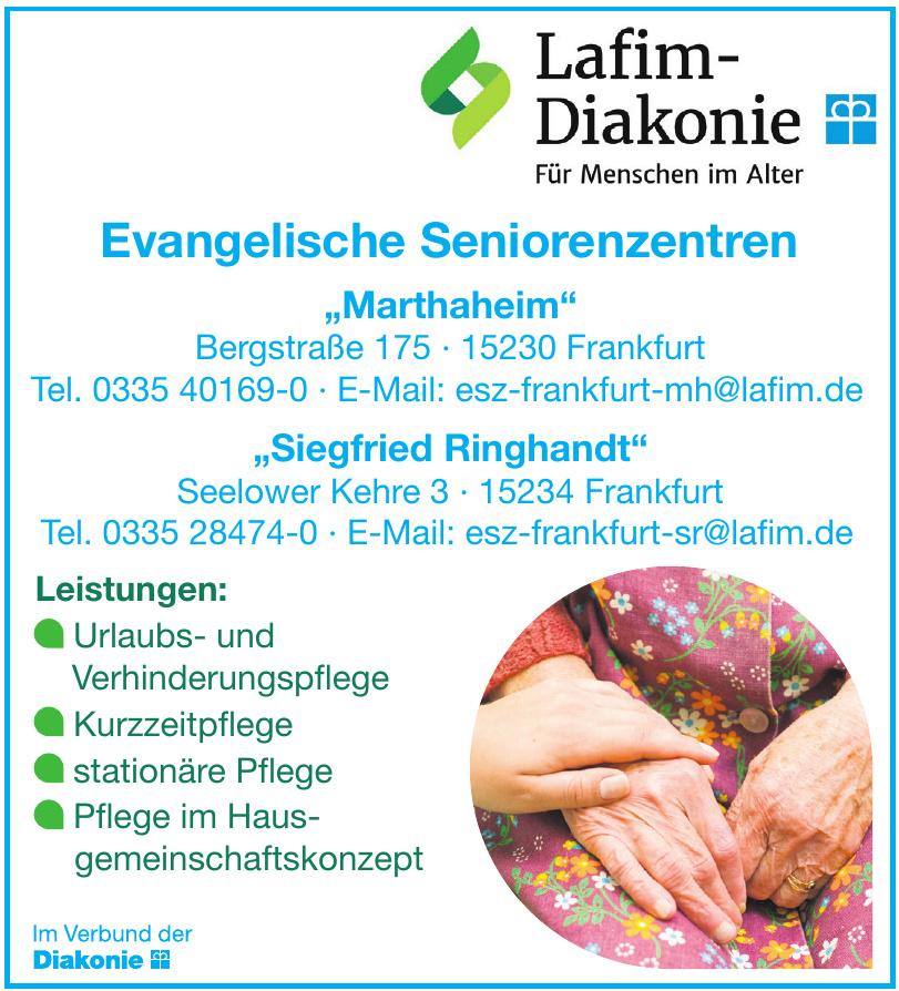 """Diakonie - Evangelische Seniorenzentren """"Marthaheim"""""""