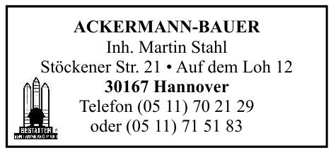 Ackermann Bauer