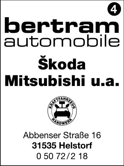bertram automobile Škoda Mitsubishi u.a.