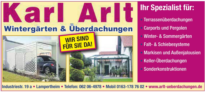 Karl Arlt Überdachungen und Wintergärten