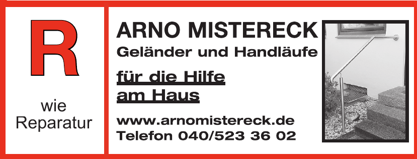 Arno Mistereck - Geländer und Handläufe